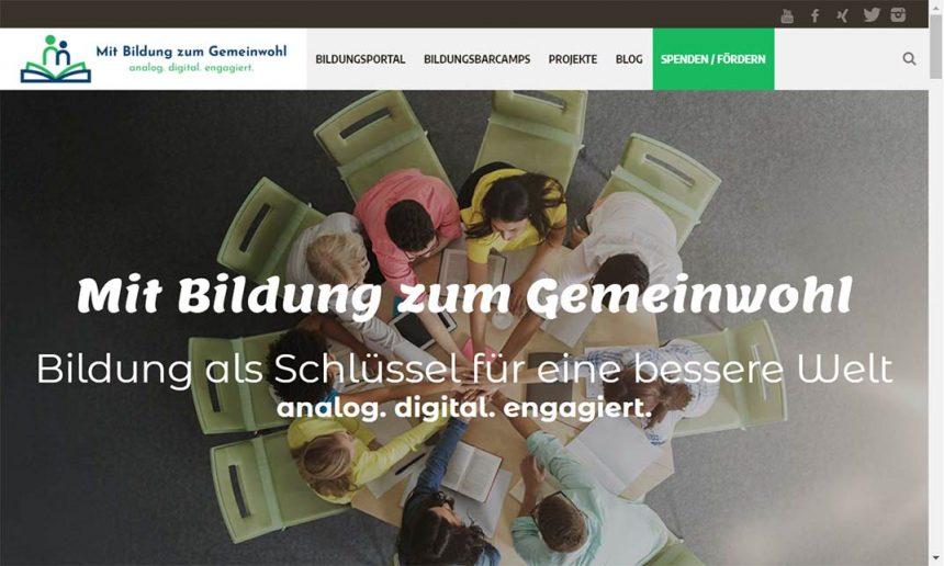 Da ist sie: unsere neue Webseite mitbildungzumgemeinwohl.de