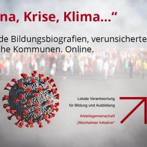 """""""Corona, Krise, Klima…"""": Gelingende Bildungsbiografien, verunsicherte Zukunft, solidarische Kommunen – Jahresforum am 3./4.12.2020 in Wesselburen (Onlineveranstaltung)"""