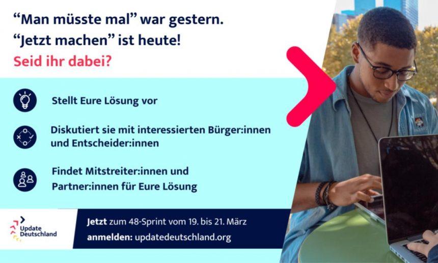 UpdateDeutschland: Mit Bildung zum Gemeinwohl hat ihren Herausforderungsvorschlag beim 48h-Sprint eingereicht
